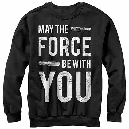 Star Wars With U- Crew Fleece Black T-Shirt