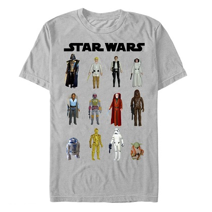 Star Wars Original Action Figures Tshirt