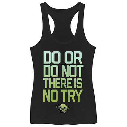 Star Wars Do Try Black Juniors Tank Top