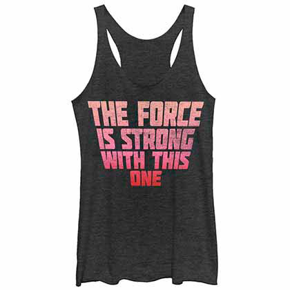 Star Wars Strong Force Black Juniors Tank Top