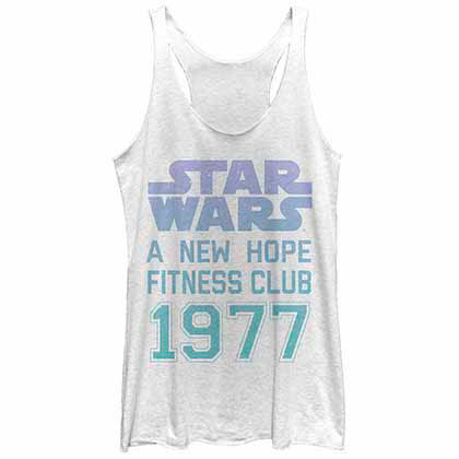 Star Wars Hope Fitness White  Juniors Tank Top