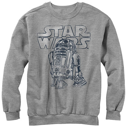 Star Wars Robot Life- Crew Fleece Gray Sweatshirt
