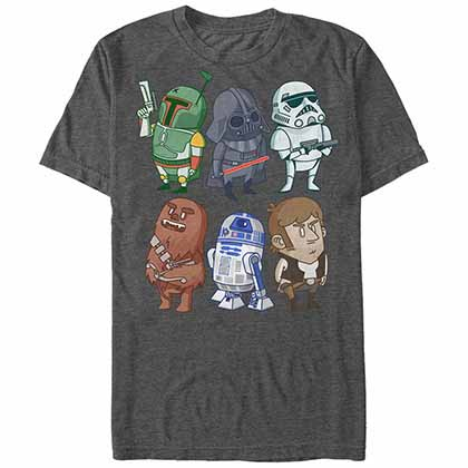 Star Wars Doodles Gray T-Shirt