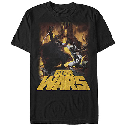 Star Wars Vader vs Boba Black T-Shirt