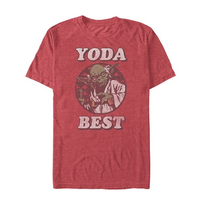 Star Wars Yoda Best Red Tshirt