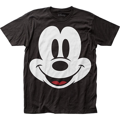Mickey Mouse Big Face Black Tee Shirt