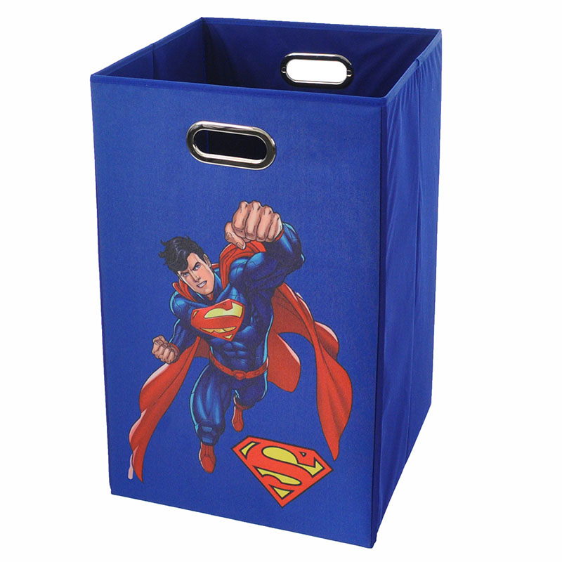 Superman flying blue folding laundry basket - Superhero laundry hamper ...