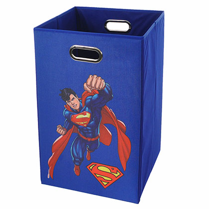 Superman Flying Blue Folding Laundry Basket