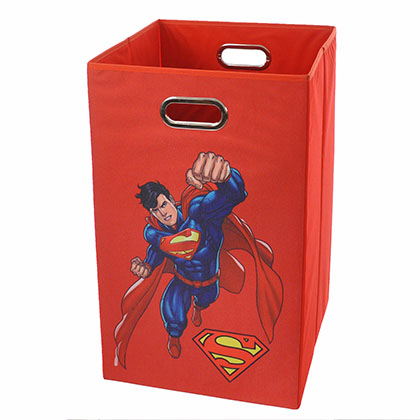 Superman Flying Red Folding Laundry Basket