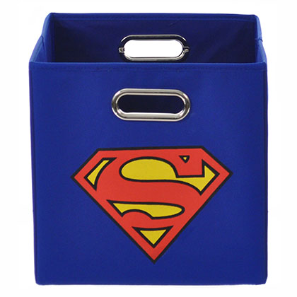 Superman Logo Blue Folding Storage Bin