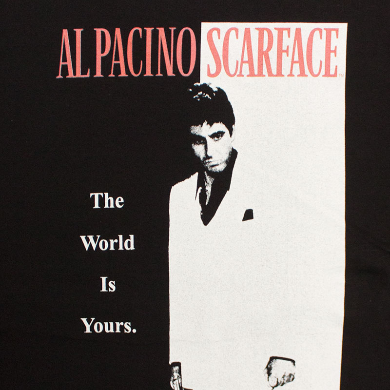Scarface The World Is Yours Black Tee Shirt