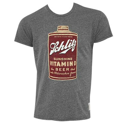 Schlitz Men's Grey Retro Vitamin D T-Shirt
