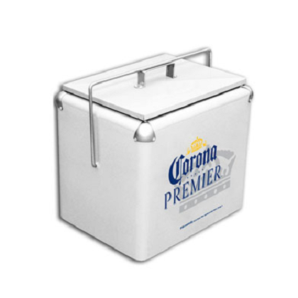 Corona Premier Retro Metal Cooler