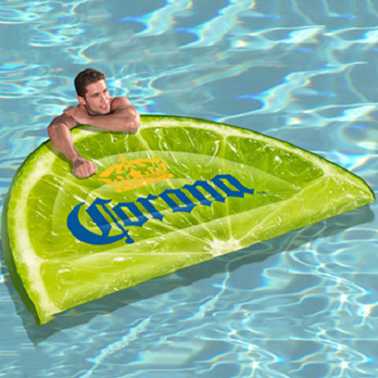 Corona Giant Lime Wedge Pool Float