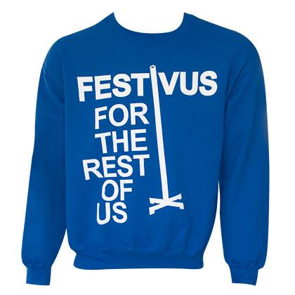 Seinfeld Men's Blue Festivus Crewneck Sweatshirt