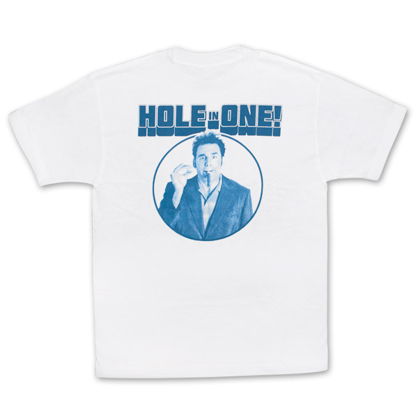 71a76cb3d item was added to your cart. Item. Price. Seinfeld Kramer Hole In One White  Graphic TShirt