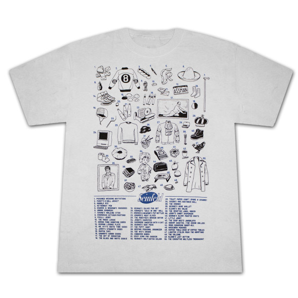 Seinfeld 50 References Silver Graphic T Shirt