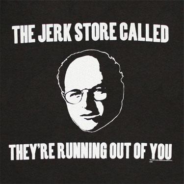 Seinfeld George Jerk Store Black Graphic T Shirt