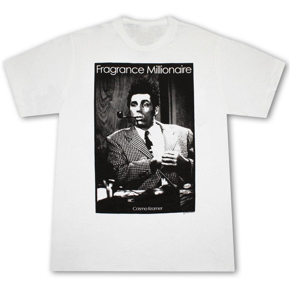 Seinfeld Kramer Fragrance Millionaire White Graphic Tee Shirt
