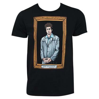 Seinfeld Black Kramer Painting T-Shirt