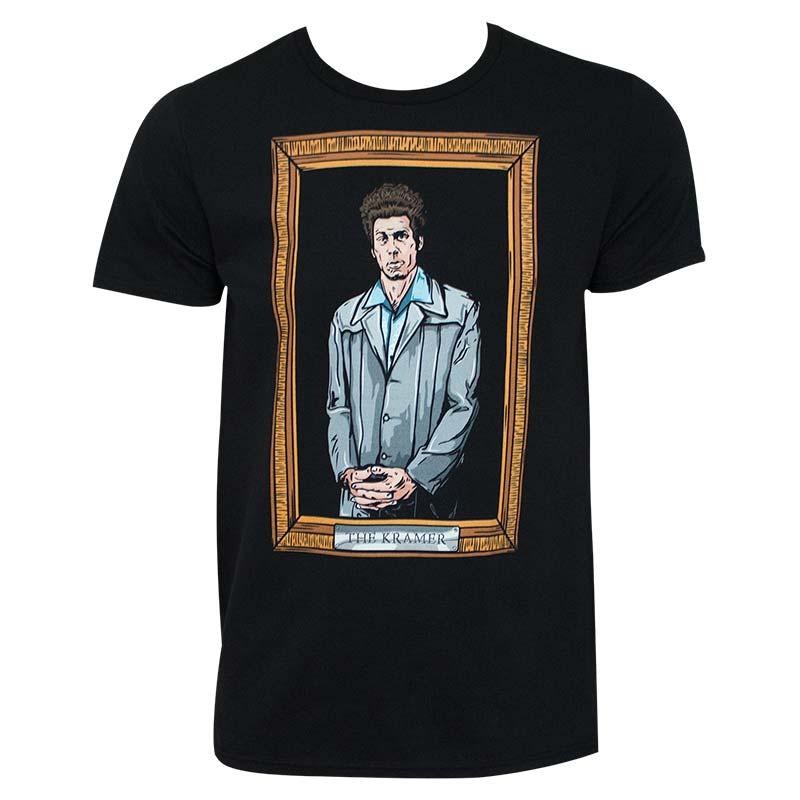 Seinfeld Kramer Painting Black Tee Shirt