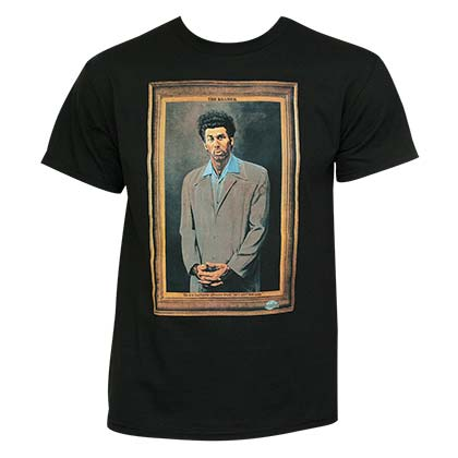Seinfeld The Kramer Black Graphic Tee Shirt
