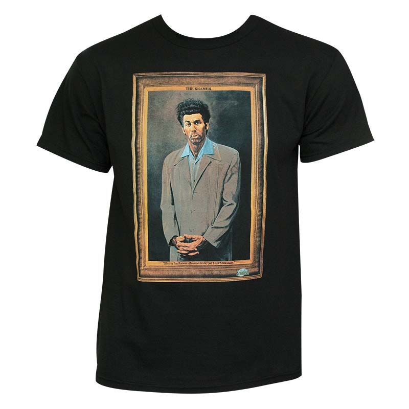 Seinfeld Kramer Painting Black Graphic T Shirt