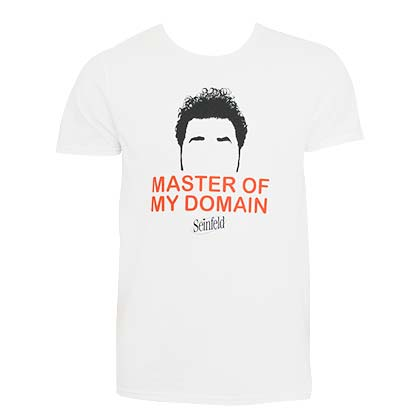 Seinfeld Kramer Master Of My Domain White Tee Shirt