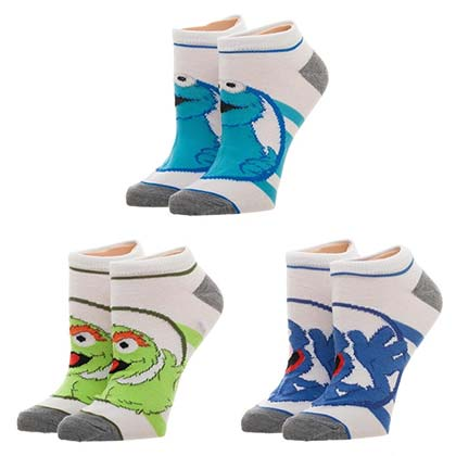 Sesame Street Women's Set of 3 Ankle Socks