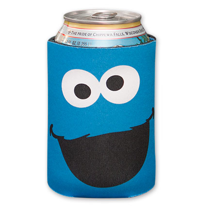Blue Sesame Street Cookie Monster Koozie