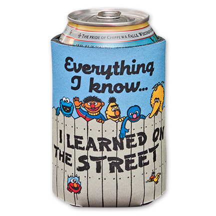 Sesame Street Everything I Know Beer Koozie