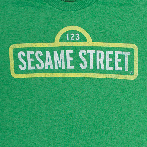 Sesame Street Green Street Sign T-Shirt