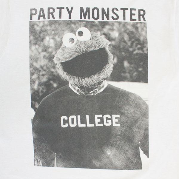 Sesame Street Men's White Party Monster Tee Shirt
