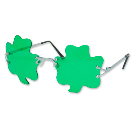 Green-Tinted Shamrock Glasses