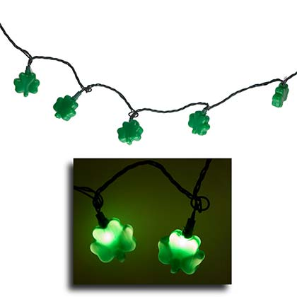 St. Patrick's Day Irish Shamrock String Lights