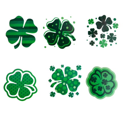 Green Shamrock Temporary Tattoo