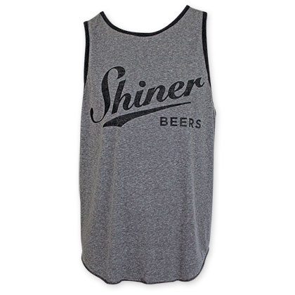 Shiner Beer Black And Gray Tank Top