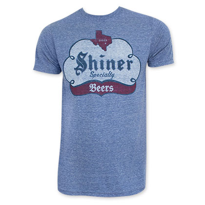 Shiner Beers Men's Blue Specialty T-Shirt