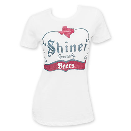 Shiner Specialty Women's Gray Beer Logo T-Shirt