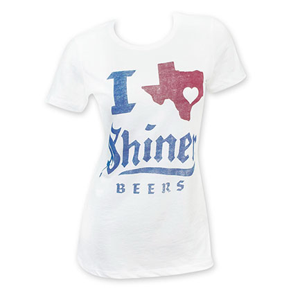 Shiner Women's White I Heart Texas T-Shirt