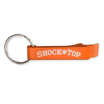 Shock Top Orange Bottle Opener Keychain