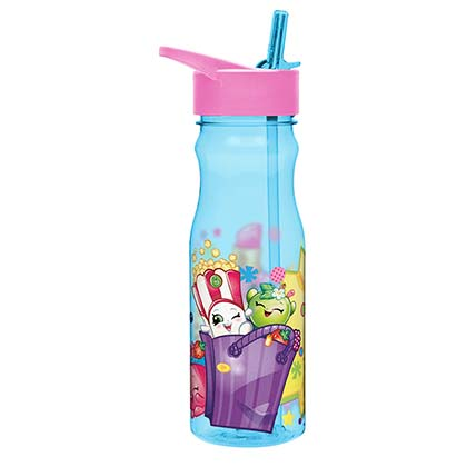 Shopkins Youth Water Bottle With Straw
