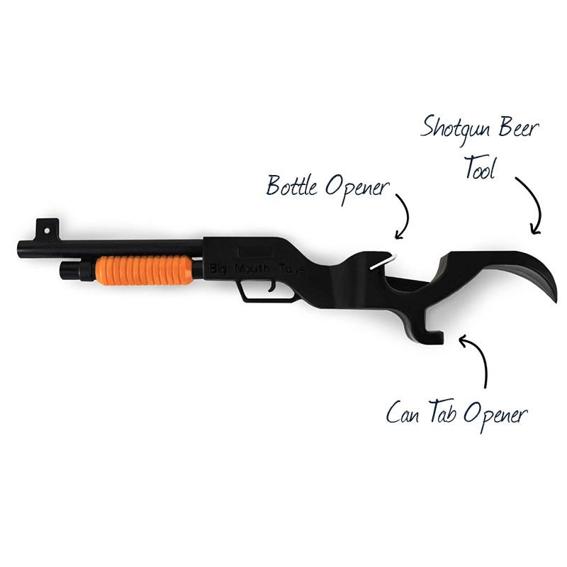 make my day shotgun beer bottle opener. Black Bedroom Furniture Sets. Home Design Ideas