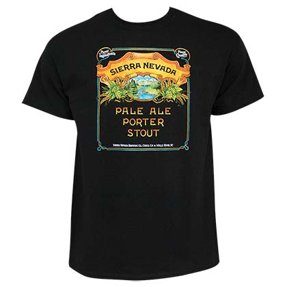 Sierra Nevada Pale Ale Porter Stout Men's Black TShirt