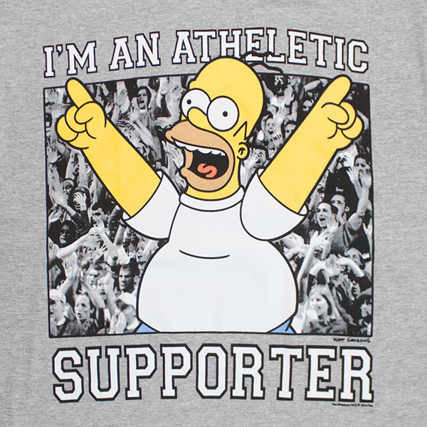 The Simpsons Athletic Supporter Men's Grey T-Shirt