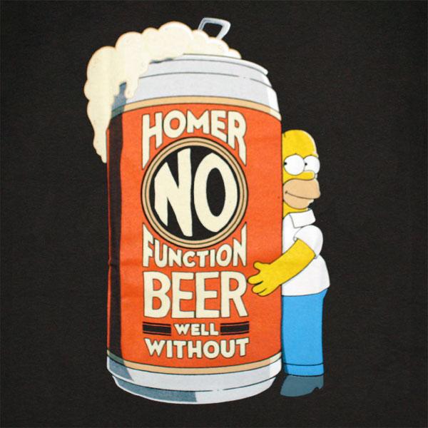The Simpsons Homer No Function TShirt - Black