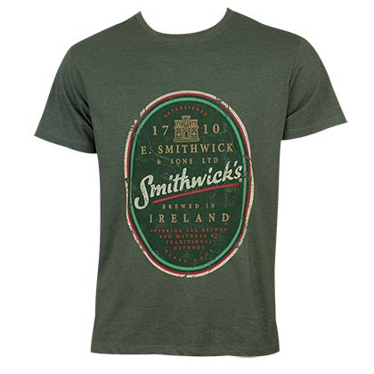 Smithwicks Men's Green Distressed T-Shirt