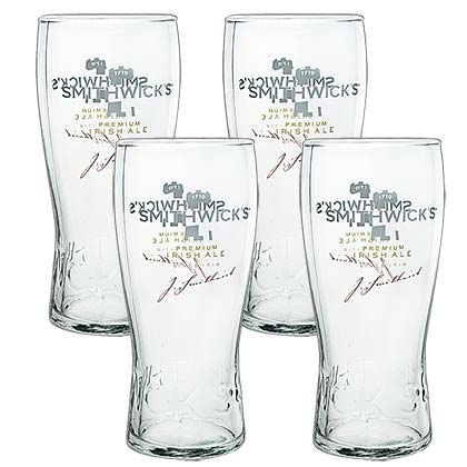 Smithwick's Four-Pack Pint Glasses