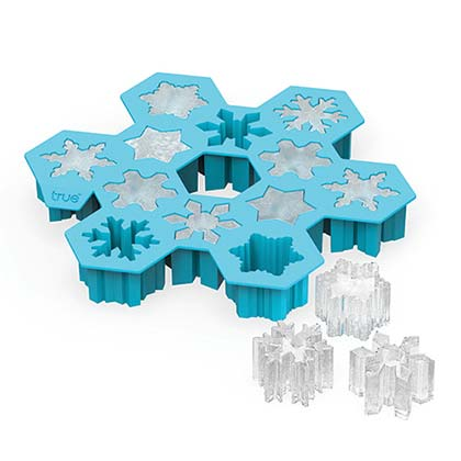 Snowflake Light Blue Silicone Ice Cube Tray