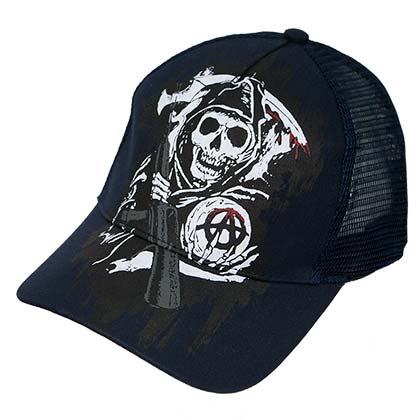 Sons Of Anarchy Navy Blue Fear The Reaper Mesh Trucker Hat